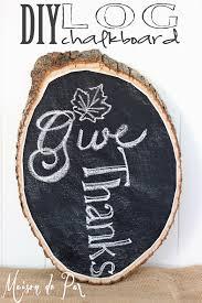 how to turn a log into a chalkboard sign tutorial diy chalkboard log