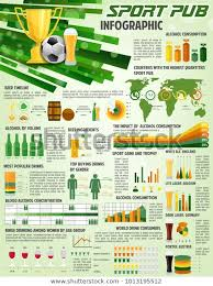 Soccer Pub Infographics On Beer Drink Stock Vector Royalty