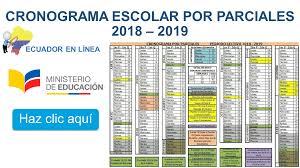 CRONOGRAMA 2018-2019