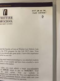 Gallery Of Law School Acceptance Letter
