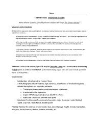 gatsby theme essay rubric essays paragraph