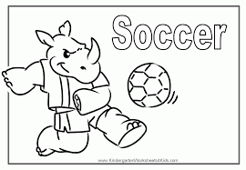 Small Picture Printable Soccer Coloring Pages Coloring Home