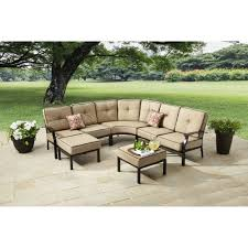 better homes and gardens carter hills 7 piece outdoor sectional sofa set seats 5 tan com