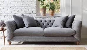 fabric chesterfield sofa. Brilliant Fabric Dulwich Midi Sofa In Linen Mix Pigeon On Fabric Chesterfield