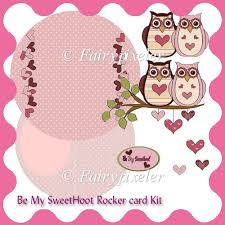 instant card making downloads be my sweethoot rocker card kit 0 90 instant card kit