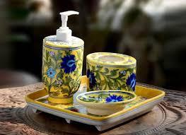 Decorative Bathroom Tray Buy Decorative Bathroom Accessories Sets Online from Cratedindia 54