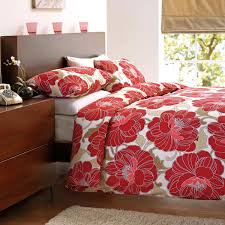 shantar fl design duvet cover set red