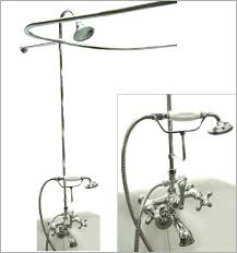 clawfoot tub faucet with shower a really encourage wall mount chrome bath claw foot home depot
