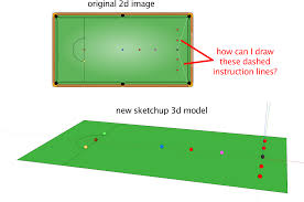 Nothing is more basic or important in learning sketchup than being able to draw a properly positioned straight line of an exact. Drawing Instruction Lines In 3d Model In Sketchup Stack Overflow