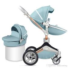2019 hotmom new arrival pu leather baby stroller 2 in 1 european standard baby jogger infant folding pram carts pushchair from babycoming