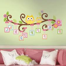 nice nursery wall decor stickers photos art collections scroll tree branch decals old fashioned baby removable boys bedroom transfers vinyl kids room girls