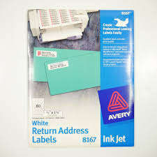 Avery Return Address Labels 8167 Avery 8167 2000 Easy Peel White Address Labels New Nwt