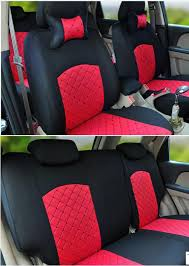 elegant car seat cover red black color rm150 only free