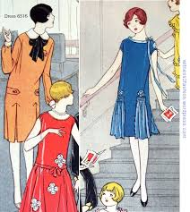 1920s Dress Patterns New Butterick 48 Dress Womans Day Dress Pattern 48 48s Twenties