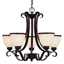 illumine 5 light chandelier english bronze finish cream marble glass