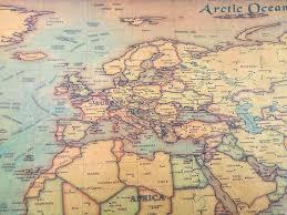 Large Us Map Poster Vintage Us Map Gryphonscience