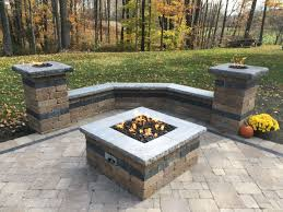 paver patio with gas fire pit. Interesting Pit Paver Patio With Natural Gas Fire Pit Two Columns And Sitting  Wall Perfect For Fall Days In Northeast PA In Patio With Gas Fire Pit Pinterest
