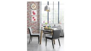 breathtaking gray round modern glass cb2 dining table varnished ideas
