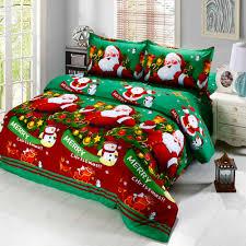 4pcs/set 3D Cartoon <b>Bedding</b> Sets <b>Merry Christmas</b> Gift Santa Claus ...
