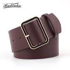 ซ อท ไหน baa 2018 new designer las gold square buckle belt womens wide black red pu leather belts for women jeans cinturon mujer
