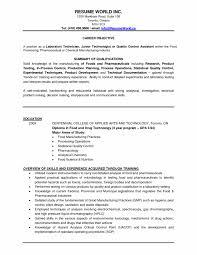 Cover Letter Sample Resume Forry Technician Job Description Lab