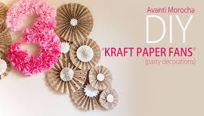 diy kraft paper fans backdrop abanicos de papel party decoration decoracion de fiestas you