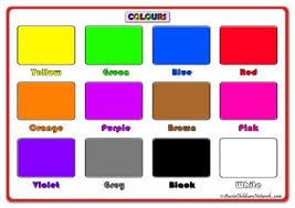 Basic Color Chart For Kids Printable Colours Posters Color Activities Color Poster