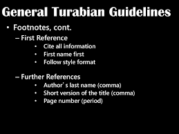 General Turabian Guidelines Ppt Download