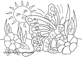 Free Coloring Sheets For Spring Free Coloring Pages Spring Flowers