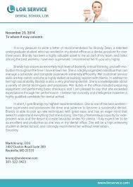 letter of recommendation for dental school example dental school recommendation letter letters font