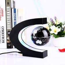 <b>Novelty</b> C Shape <b>LED World Map</b> Floating Globe Magnetic ...