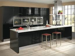 modern black kitchen cabinets. Furniture: Black Modern Kitchen Cabinets With White Countertop