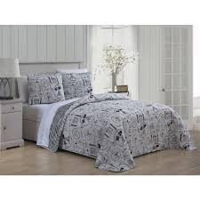 ooh la la 3 piece black white queen quilt set oll3qtquenghbw the home depot