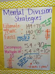 Mental Division Strategies Anchor Chart Life Beyond The
