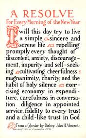 just rewards a proposal for a new way to keep new year  a calligraphic card of a traditional new year s resolution from 1915