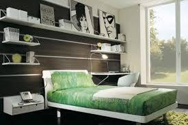 Modern Bedroom Shelves Modern Teenage Bedrooms With Gren Bedding And Open Shelves And