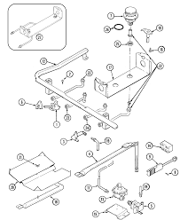 6498vtv gas range gas controls parts diagram