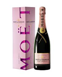 home wine chagne moet chandon brut imperial rose gift box