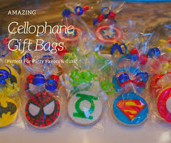 amazing cellophane gift bags add pop to gifts party favors