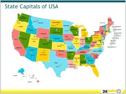 Image result for states and capitals map