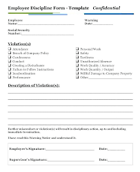 Disciplinary Form Template Free Employee Action Up Office By