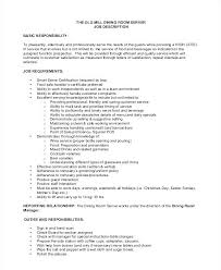 Server Job Description For Resume Inspiration Fantasticdiningroomtablesresumeverjobdutiesforresumetable