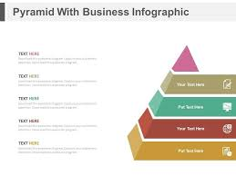 Pyramid Ppt Pyramid With Business Infographics Flat Powerpoint Design