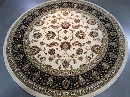 superb quality traditional all over agra design area round 7 10 x7 10 deals on rugs