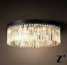 glass prism chandelier industrial diam clear glass prism round chandelier vintage young house love mercury glass
