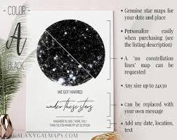 Star Chart Poster Custom Star Map Custom Poster Astrological Star Chart Romantic