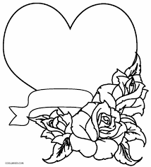 heart with roses coloring pages gallery 011