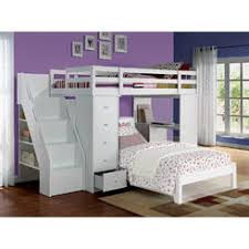 acme freya white storage bookcase ladder staircase chest desk youth kids twin loft bunk bed bunk bed desk