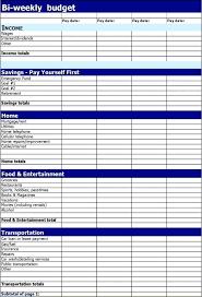 Bi Weekly Budget Planner Revolutionary Template Creative Snapshot
