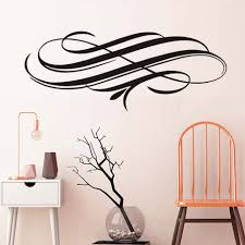 Elegant Line Swirl PVC Art Wall Decal Waterproof Removable Sticker On Wall  Self Adhesive Wallpaper Home Decor For Living Room -in Wall Stickers from  Home ...